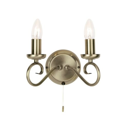 Endon Lighting 180-2an 2 Light Wall Light dans Antique Brass