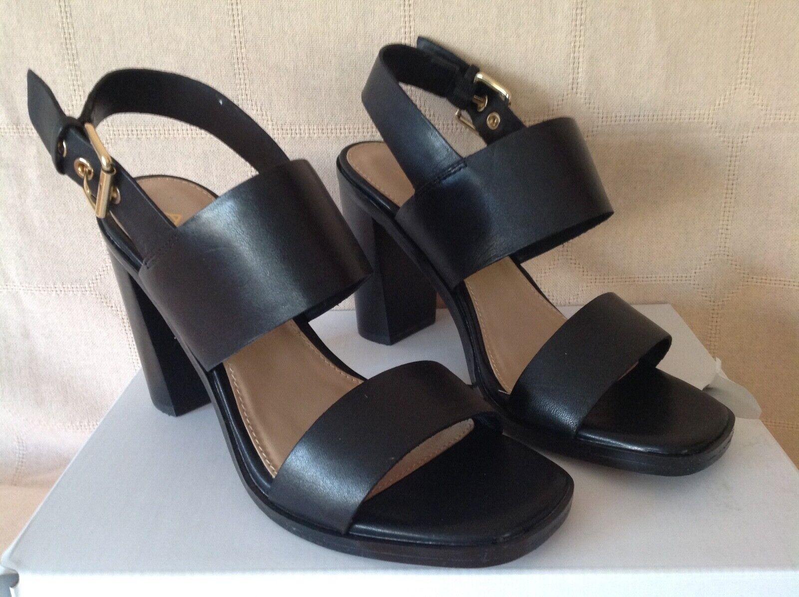 Aldo Black leather heeled sandals size 3. BNWT rrp