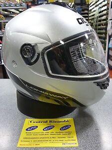 CASCO-MODULARE-AGV-LONGWAY-SILVER-S-MOTORCYCLE-HELMET-HELM-CASQUE