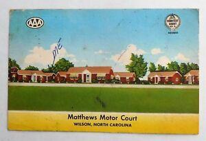 Vintage Fold Out Postcard North Carolina 1958