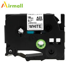 Eseller Direct/® 2 Pack TZ 241 TZe 241 tz241 Brother Compatible Black on White Glossy Laminated Tape 18mm Wide x 8m Length Label Tape for Brother P-Touch Label Printers PT-300B PT-310 PT-530