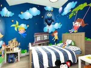 3D Adorable Enfants Photo Papier Peint en Autocollant Murale Plafond ...