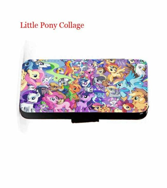 My Little Pony leather wallet flip phone case iPhone,Samsung,HTC,Sony Xperia,LG