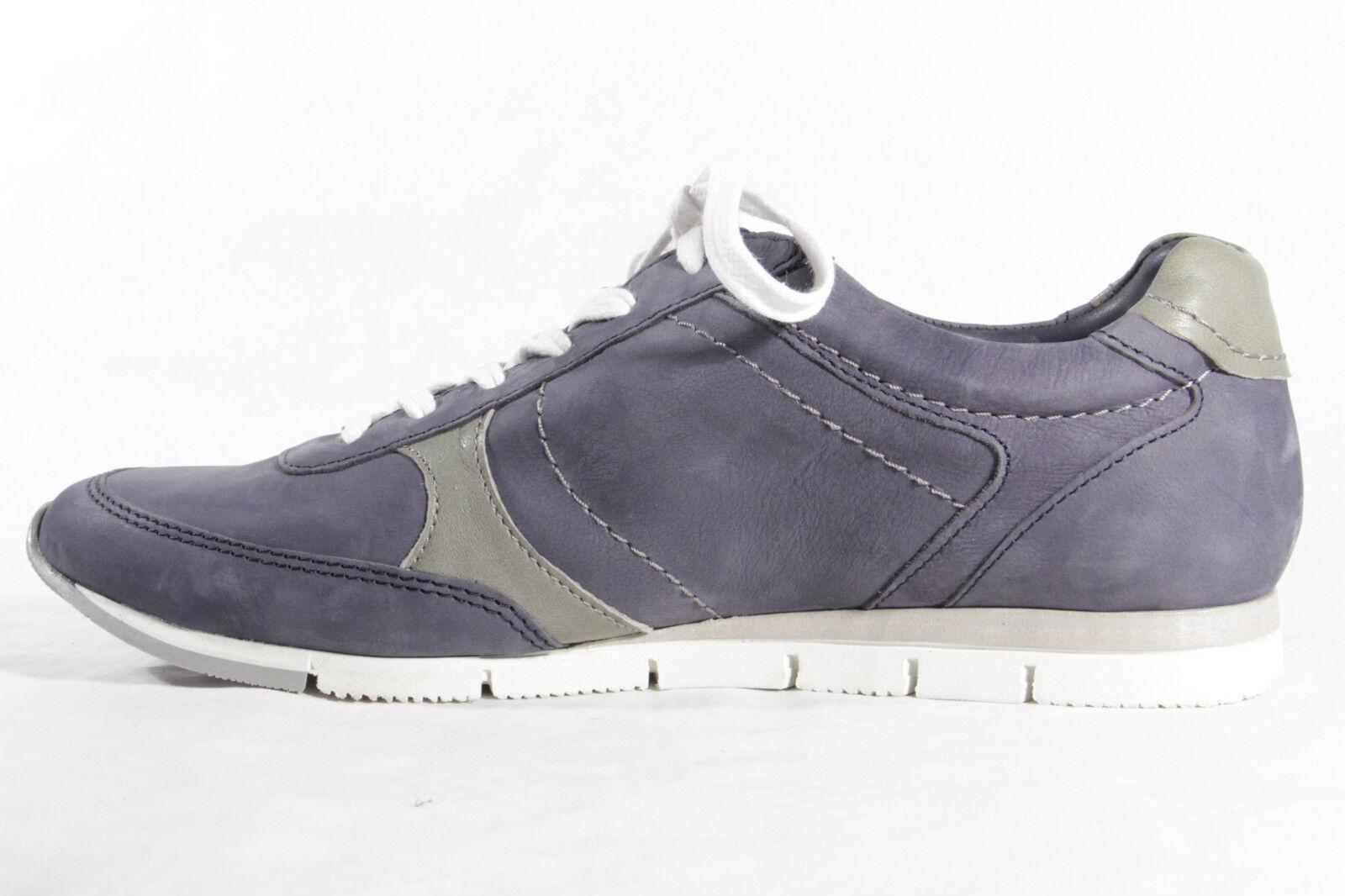 BUGATTI Femmes Chaussures à lacets de sport basses cuir véritable bleu 850212 Yq67QKOAKo