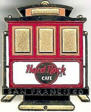 Hard Rock Cafe SAN FRANCISCO 2000 GOLD TROLLEY PIN Cable Car Rear View HRC #8401