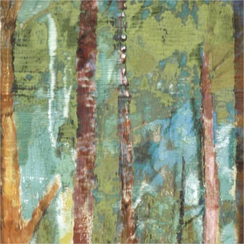 """36/""""x18/"""" WOODLAND by CAROLINE GOLD FOREST FULL OF TALL SKINNY TREES CANVAS"""