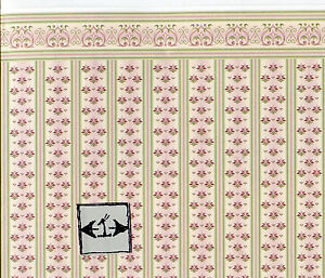 Brodnax Prints Rooster 1KT605 Kitchen wallpaper dollhouse 1//12 scale