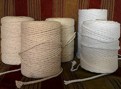WHITE PIPING CORD 3mm /& 5mm WASHABLE COTTON UPHOLSTERY CUSHIONS CORDS