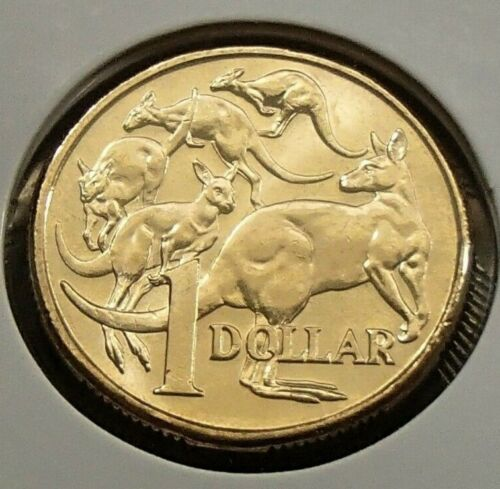 Mob of Roos Elizabeth II 2018 Australia Uncirculated One $1 Dollar Coin