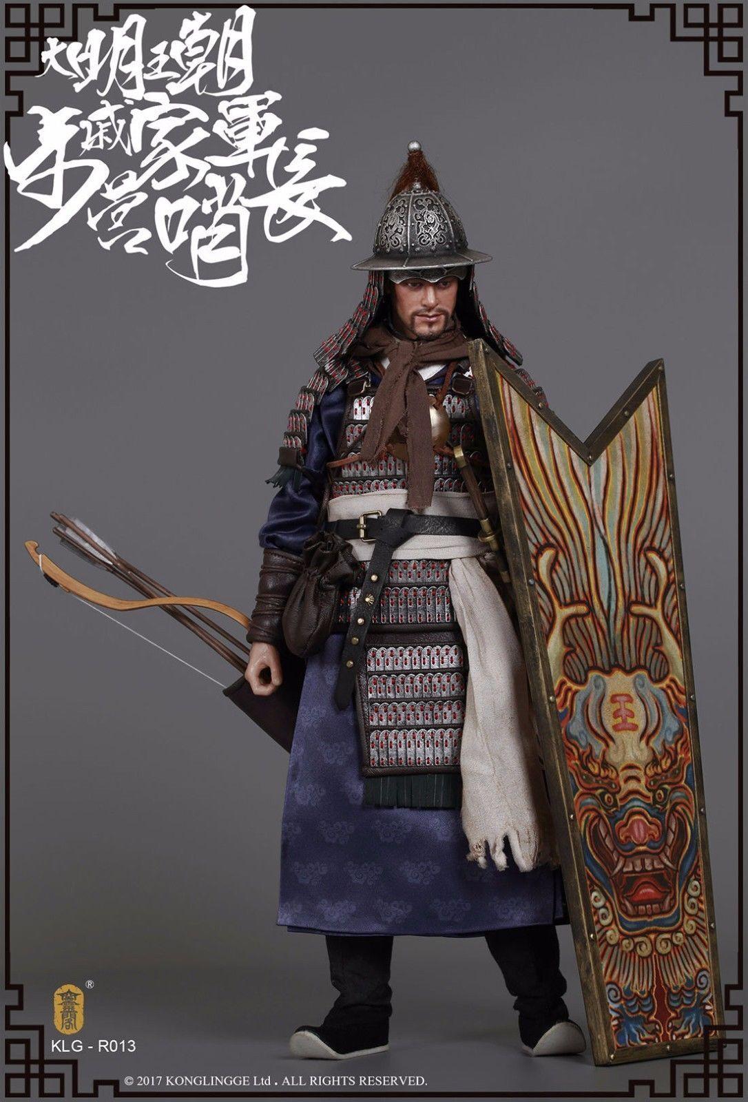 KLG-R013 1 6  Ming Dynasty Qi Troop -Walk Comuomoder cifra Full Set modellololo giocattolo  consegna gratuita