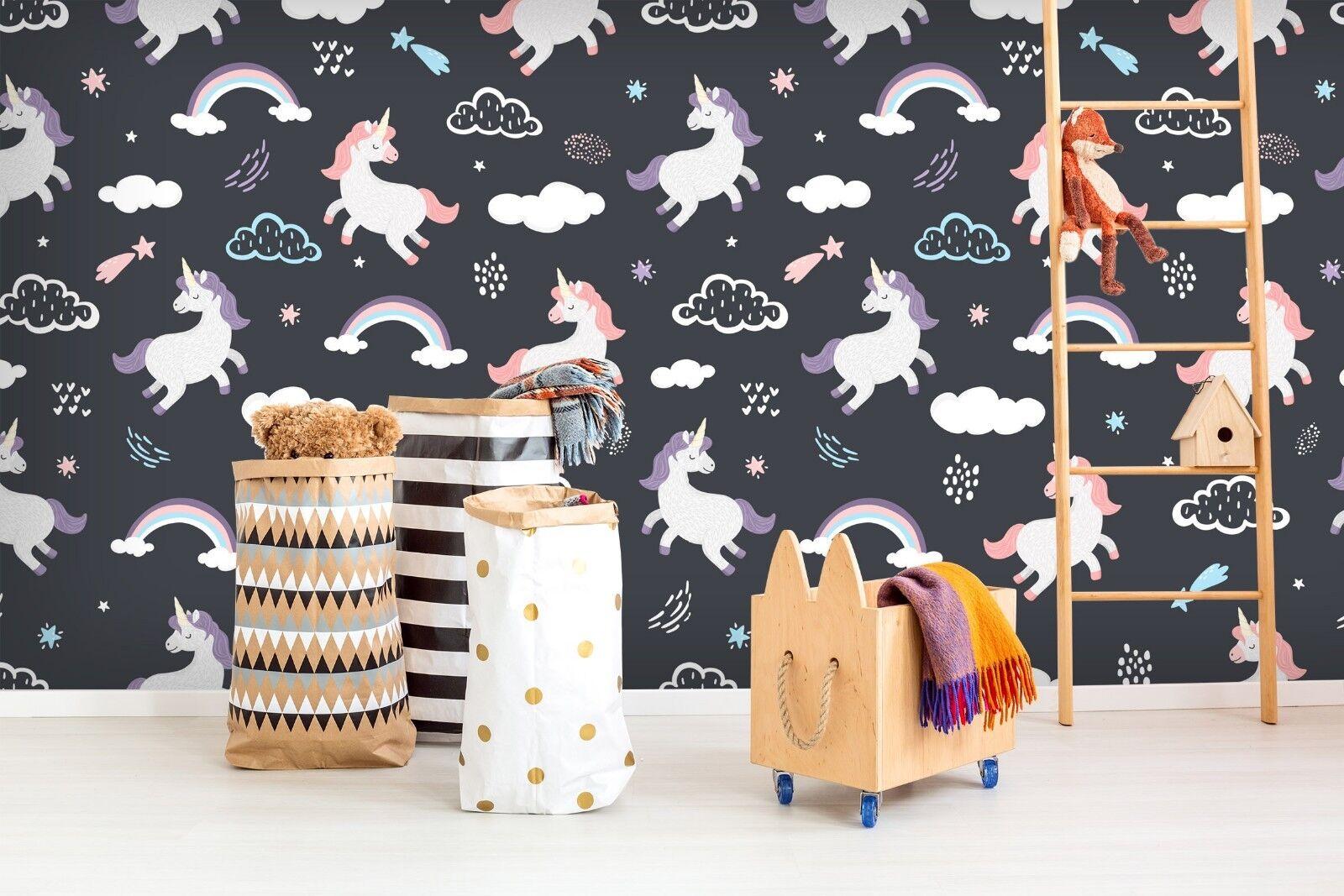 3D Clouds Unicorn 932 Wallpaper Mural Paper Wall Print Indoor Murals CA Summer
