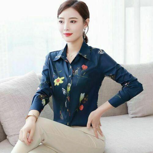 Shirt Lady Girl/'s Summer Casual Korean Elegant Blouses Chiffon Loose Ladies