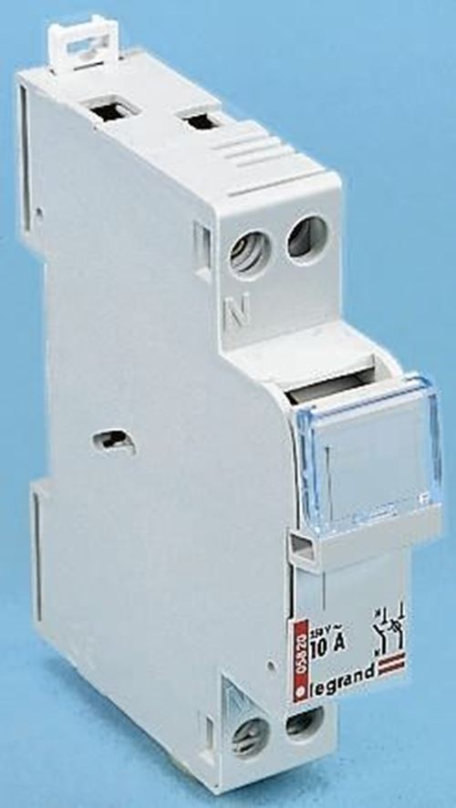 10 A SP + N Fused Isolator Switch, 8.5 x 23 mm Fuse Size