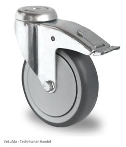 Funciones de transporte cargas pesadas roles apparaterollen las ruedas de goma rueda 125 mm