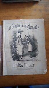 Ancienne-Partition-Les-compliments-de-Normandie-Loisa-Puget-G-lemoine