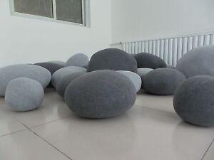 Lovely Image Is Loading A Set 6pcs Pebble Stone Bean Beg Pillow  Ideas