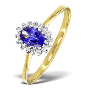 Tanzanita-y-Diamante-Anillo-Oro-Amarillo-Tamano-F-Z-Compromiso-Certificado