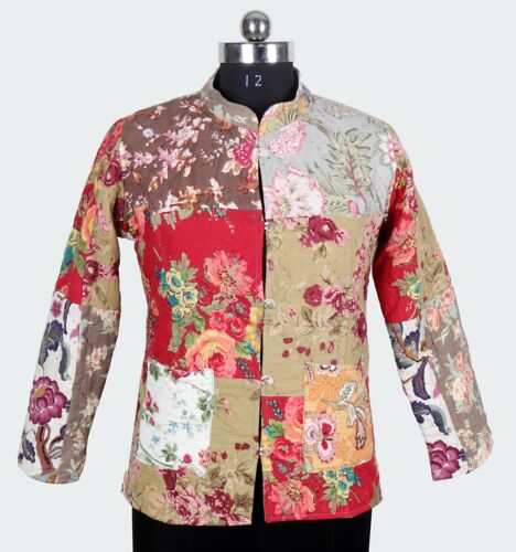Women/'s Cotton Kantha Jacket Handmade Indian Assorted Patch Blazer All Size Coat