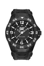 Mens Caterpillar Motion CAT LB11121132 Black Rubber White Accents Sport Watch