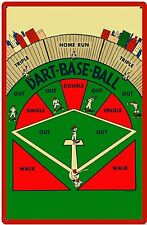 DART BASEBALL VINTAGE STEEL SIGN Bar Games NEW Vintage Repro Retro Metal USA Tin