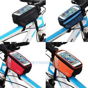 Fahrradtasche-Rahmentasche-Handy-Oberrohrtasche-5-039-039-Smartphone-Touchdisplay