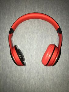 Beats By Dr Dre Soloheadband Headphones Red Black Sold As Is No Wireless Ebay