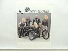 1990 Harley-Davidson Gypsy Leather Motorcycle Brochure Literature L9694