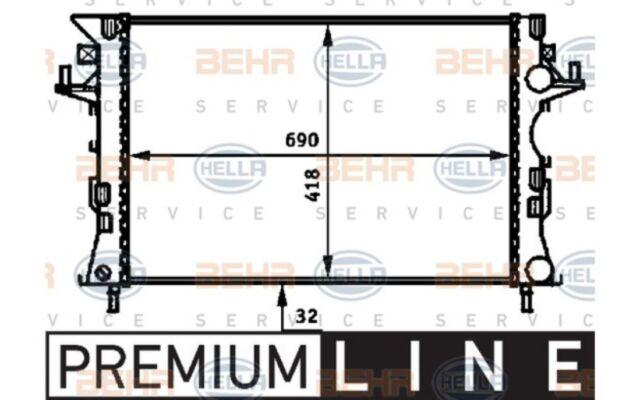 HELLA Radiador, refrigeración del motor RENAULT ESPACE LAGUNA 8MK 376 716-304
