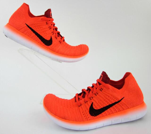2d12ff2aae0f Nike RN Flyknit Bright Crimson Black University Red 831069-600 Sz 11 ...