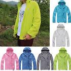 Men Women Cycling Outdoor Sport Rain Coat Mac Waterproof Windproof Zip Up Jacket