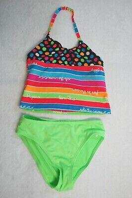 HenzWorld Girls Two-Piece Swimming Suits Rainbow Unicorn Swimsuit Tankinis Bathing Suit Swimwear