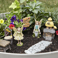 Fairy Garden Miniatures Kit with fairies house Outdoor Decor accessories 6pcs !!