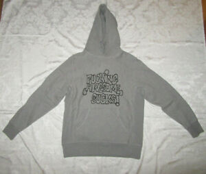 F-cking-Awesome-FA-Sucks-Hoodie-Grey-Gray-Size-M-Medium-Jason-Dill-Supreme