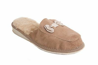 Zapatillas de casa para Mujer Cálido Cómoda Informal Cuero Chanclas Con Arco FOS68