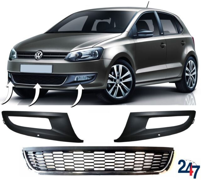 VW POLO MK5 5 V 6R 09-2009 FRONT BUMPER GRILLE GRILL NEW RIGHT RH NEW