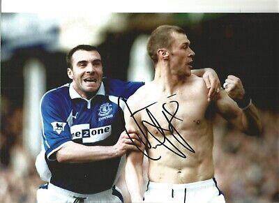 Duncan Ferguson Hand Signed Everton Football 12x16 Photograph A