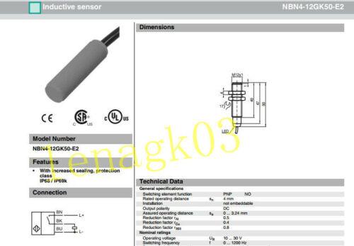 Original Cylindrical proximity switch NBN4-12GK50-E2 sensor