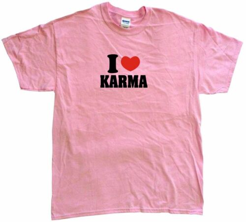 I Heart Love Karma Womens Tee Shirt Pick Size Color Petite Regular