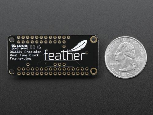 Adafruit DS3231 Präzisions-Echtzeituhr RTC FeatherWing für alle Feather 3028