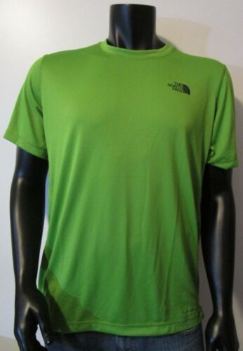 Mens The North Face OnTheGo Short Sleeve S//S Active Flashdry Tee T-Shirt Green