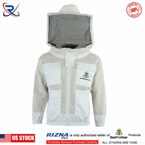 Select Ultra Ventilated 3 Layer bee beekeeping jacket Round Veil@@2XL