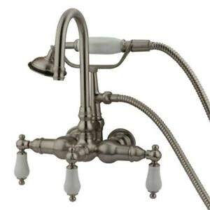 Kingston Brass Wall Mount Clawfoot Tub Faucet Amp Hand