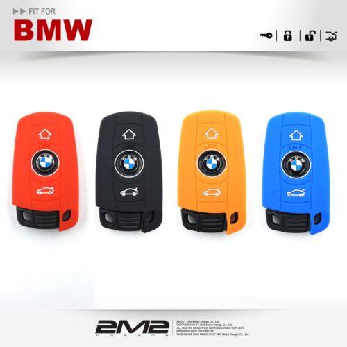 Silicon Key fob Holder Case Chain Cover FIT For BMW E60 E61 E65 E66 E67 E70 E81