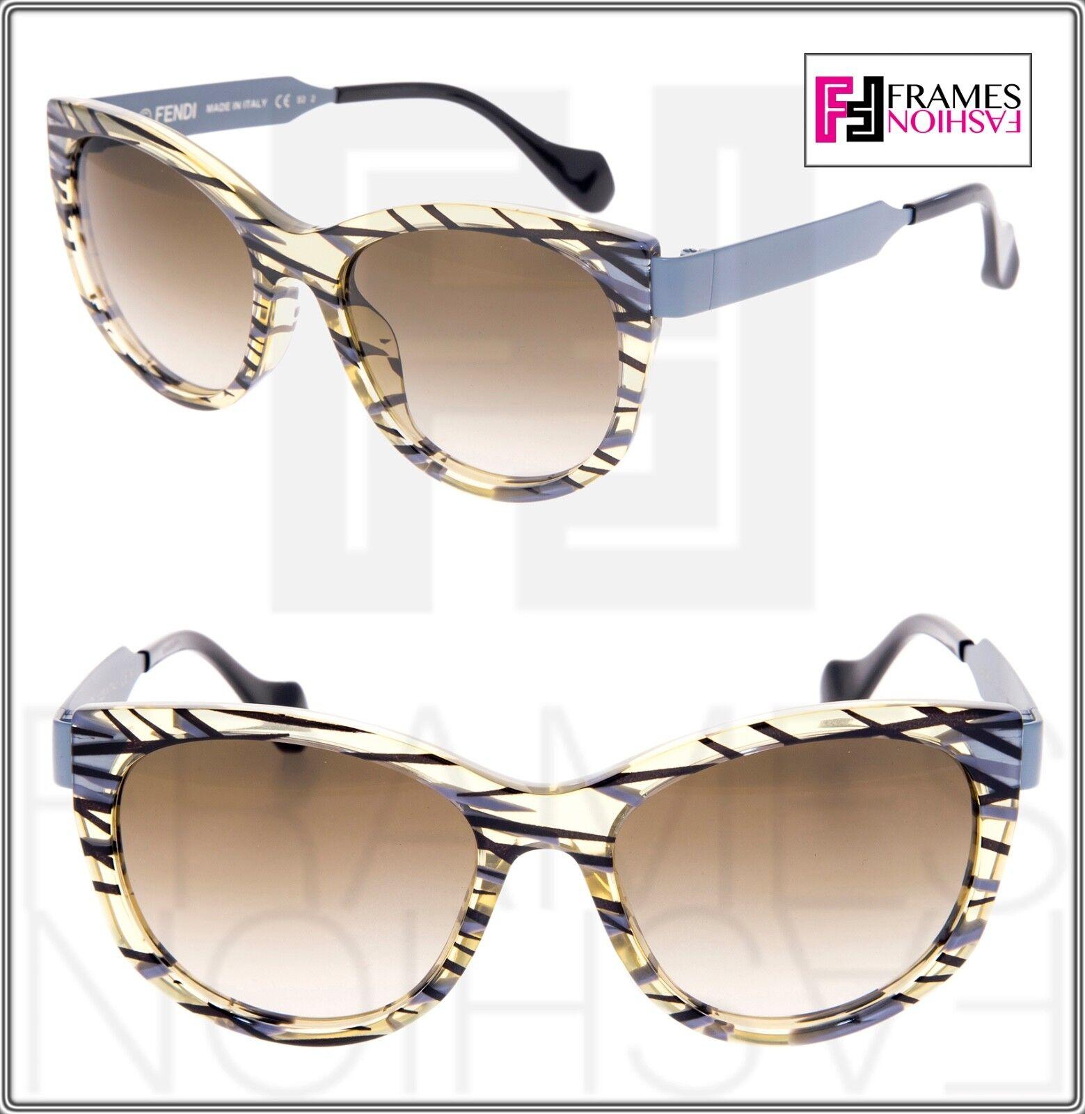 FENDI Thierry Lasry SLIKY FF0181S Matte Grey Ochre Black Metal Sunglasses 0181