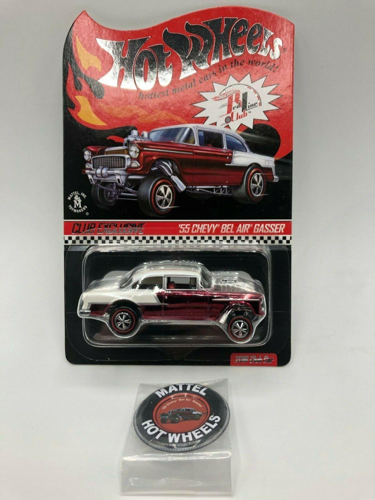 Hot Wheels Club Exclusive 55 Chevy Bel Air Gasser 2016 MIBP
