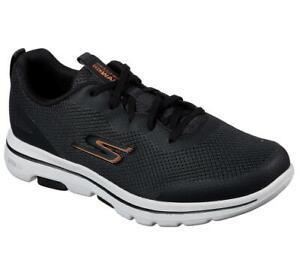 Skechers Homme Gowalk 5™ - Grain Chaussures en Noir/Orange