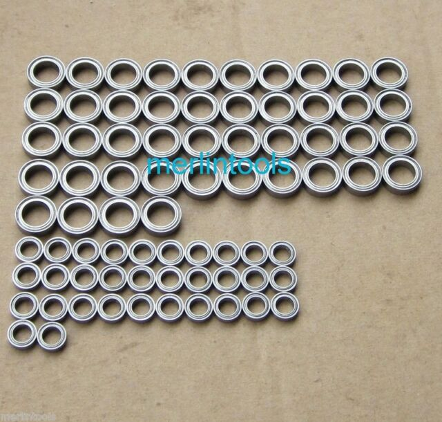 76pcs Metal Sealed Bearing For TAMIYA LEOPARD2 A6 TANK
