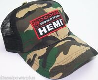 Dodge Ram Summer Mesh Back Hat Hemi Army Camo Base Ball Cap Logo Decal Emblem Us