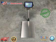 500 Lb X 05 Lb Digital Floor 16x20 Bench Scale Platform 250 Kg X 02 Kg