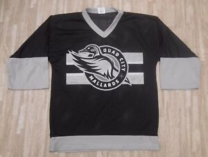 reputable site a1b97 99d99 Details about Quad City Mallards SGA Black/Gray Hockey Jersey ~ Youth 14/16  ~ Vegas Knights